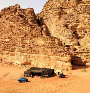 Désert de Wadi Rum en Jordanie