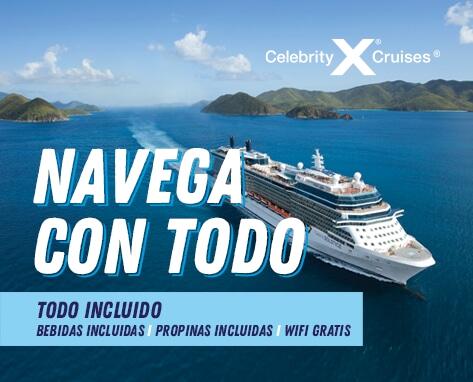 Cruceros celebrity AHORA TODO INCLUIDO