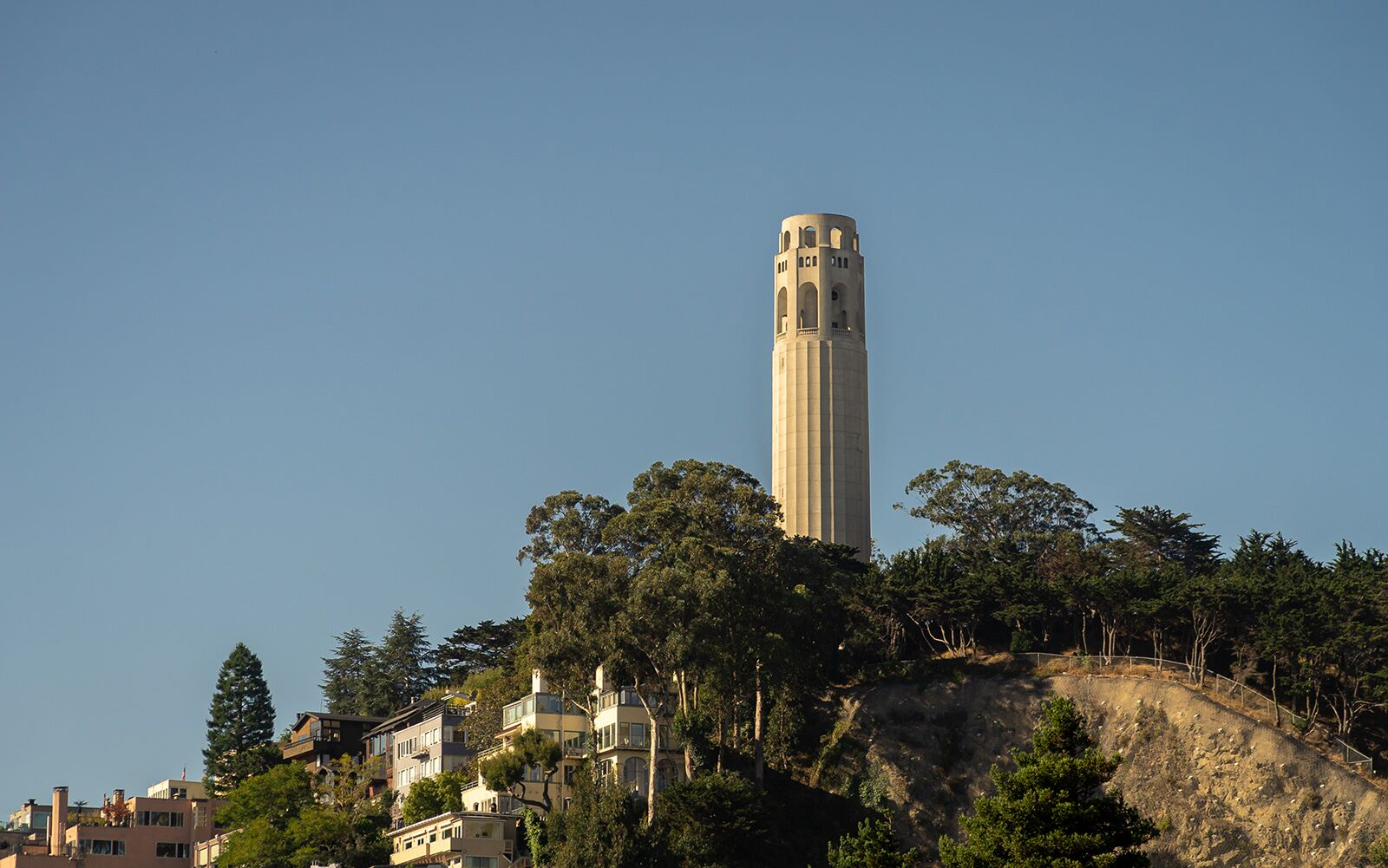 a view of coit tower in san francsico