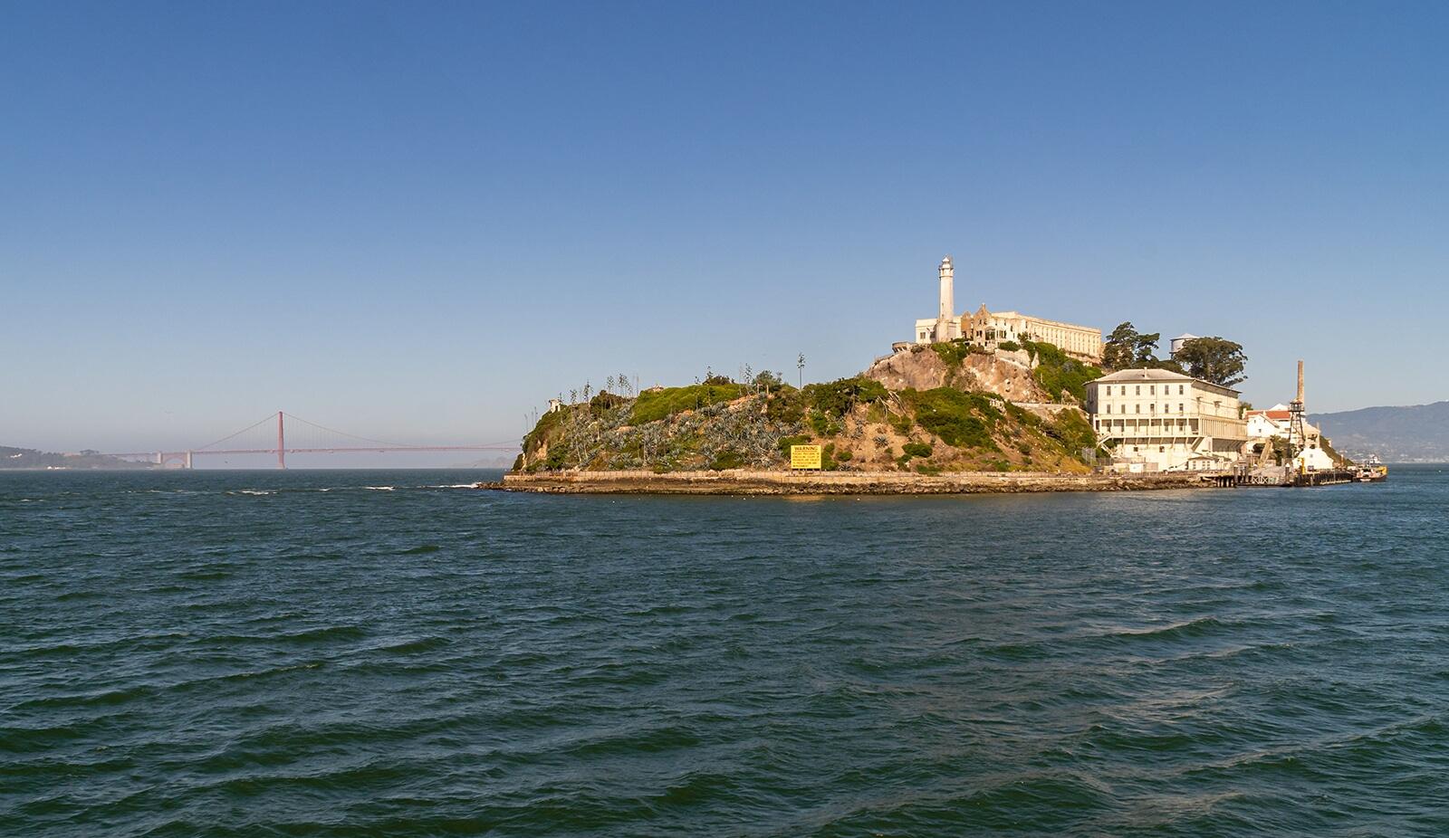 alcatraz island from san francisco bay