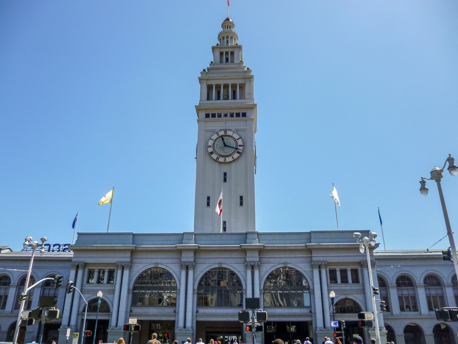 the front of the ferry building in san francisco