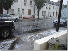 Orbain Road on July 3 2007 Storm