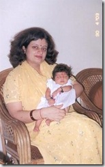 Palakshi with her Mummy